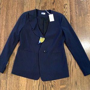 Ecru NWT pinstripe jacket size 2